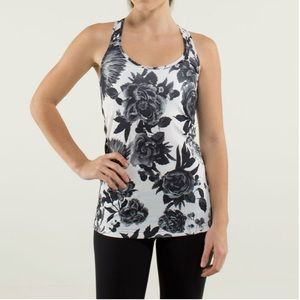 LULULEMON Small Black White Cool Racerback Tank